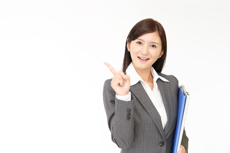 50802848 - business woman pointing with her finger
